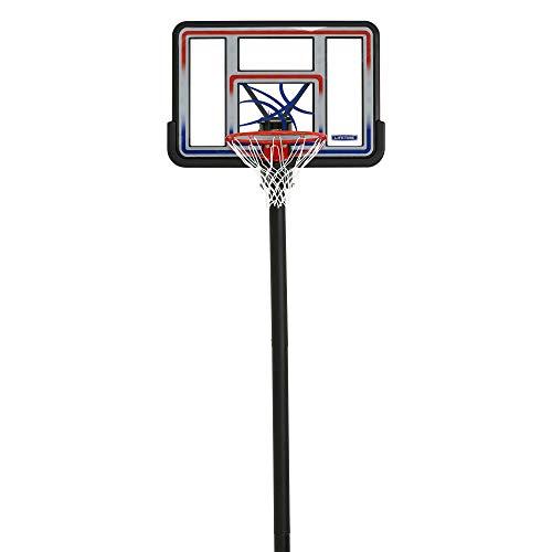 Lifetime 1008 Adjustable In-Ground Basketball Hoop, 44-Inch Backboard, Red/White/Blue