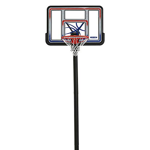 Lifetime 1008 Adjustable In-Ground Basketball Hoop, 44-Inch Backboard