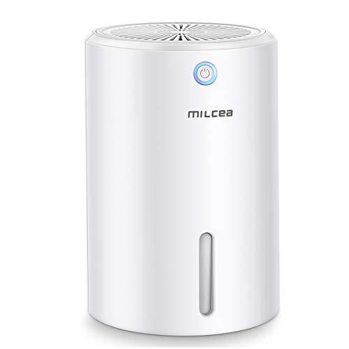 MILcea 900ml Luftentfeuchter Mini Raumentfeuchter Kompakt Tragbar Leise Lufttrockner Gegen Feuchtigkeit und Schimmel für Hause Schlafzimmer Kellerräume Schrank Wohnwagen Büro