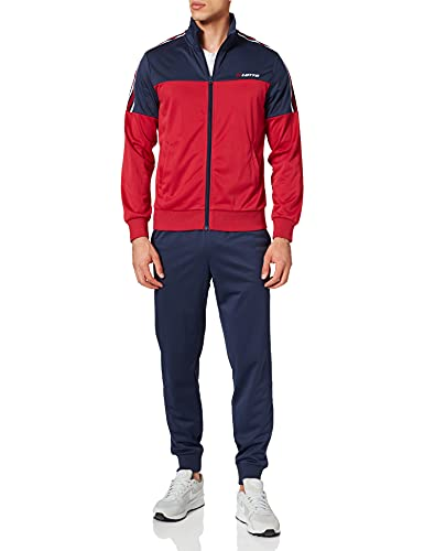 Lotto Suit Circle III Rib PL Chndal, Red Scooter/Azul Marino, XL para Hombre