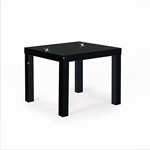 Mixibaby woonkamertafel salontafel bijzettafel in wit of zwart in 3 maten (klein, hoogglans zwart)