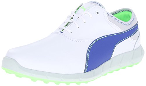 PUMA Men's Ignite Spikeless Golf Shoe, White/Surf The Web/G, 11.5 M US