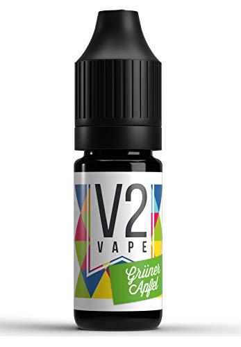 V2 Vape Grüner-Apfel AROMA / KONZENTRAT hochdosiertes Premium Lebensmittel-Aroma zum selber mischen von E-Liquid / Liquid-Base für E-Zigarette und E-Shisha 30ml 0mg nikotinfrei