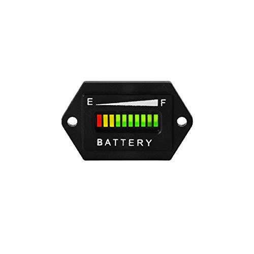 Runleader 48V Batterie Ladezustandsanzeige, Blei-Säure-Batterieanzeige, Batterietester; Batterieentladewarnung, Verwendung für Golfwagen, Gabelstapler, Sternwagen, Yamaha(BI001-48V)