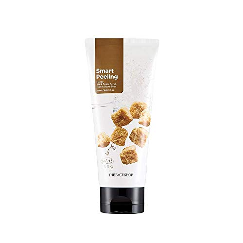 The Face Shop Smart Peeling Honey Black Sugar Scrub Gentle Exfoliator for Tan Removal, Whiteheads and Blackheads for Normal to Oily Skin,120ml