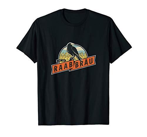 Raab Bräu Logo Rabe Classic Design Brauerei Bier T-Shirt