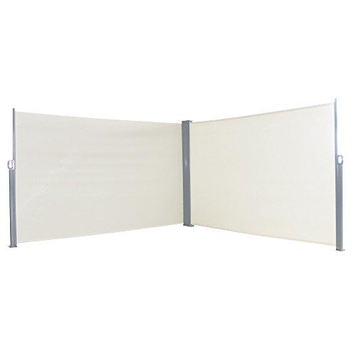 SAILUN® toldo Lateral (Visión Protección Protección Solar, Cortavientos, 160/180x 300cm Antracita/Gris/Beige Toldo...