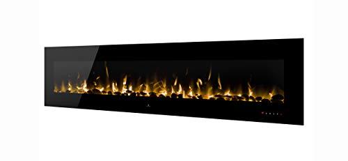 Noble Flame Vegas 2410 - elektrische haard wandhaard haard haard - wandmontage afstandsbediening - verschillende breedtes - zwart