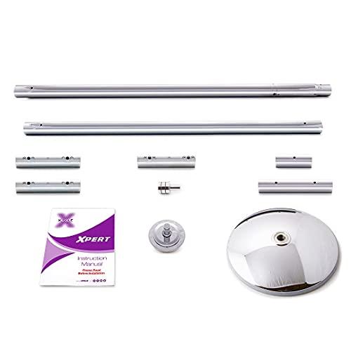 XPole, palo da ginnastica XPert, statico e girevole, con panno XPole in microfibra, di 40/45/50 mm