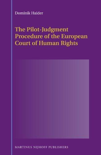 PILOT-JUDGMENT PROCEDURE OF TH