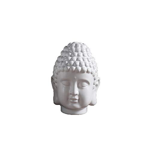 White Buddha Head Statue India Religious Buddha Head Sculpture Thailand Buddha Figurines Home Office Decor