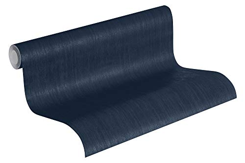 Jette Vliestapete Tapete Uni 10,05 m x 0,53 m blau Made in Germany 373377 37337-7