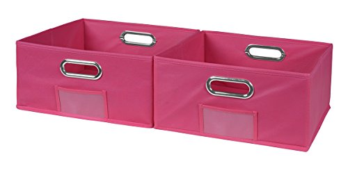 Niche Cubo Half-Size Foldable Fabric Storage Bins (Set of 2), Pink