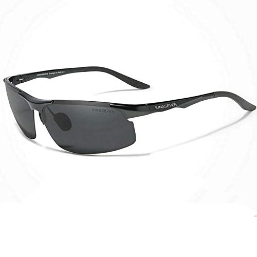 Óculos de Sol Masculino Esportivo Kingseven Proteção Polarizados UV400 Anti-Reflexo N-9126 (C1)