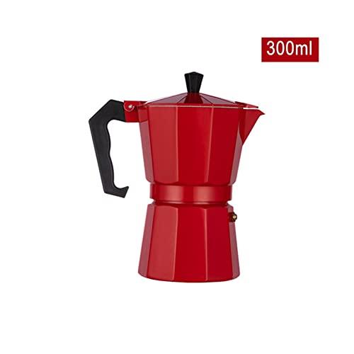 ZHANGZHI Aluminium Ekspres do kawy Espresso Ekspresy do kawy Ekspres do kawy Ekspres do kawy Ekspres do kawy Ekspres do kawy Hobe Home Narzędzia Czerwona wstążka Czarny (Colore : Red 300ml)