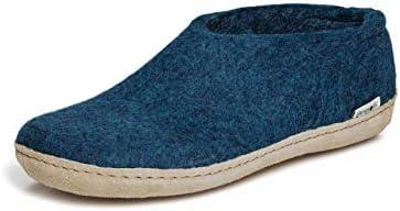 glerups dk A Shoes Unisex-Adulto Zapatillas de Fieltro,Pantufla, BLU (Petrol),42 EU
