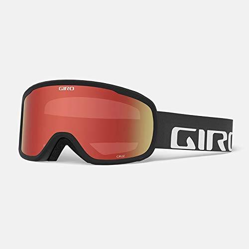 Giro Cruz Adult Snow Goggle - Black Wordmark Strap with Amber Scarlet Lens