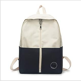HMJZLyy Schoolbag Female Forest Small Fresh Canvas Backpack Female Harajuku Girl Color High School Student Backpack (Color : Black)