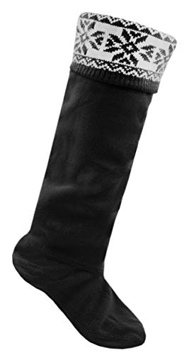 Calcetines para botas Wellington RJM, de forro polar con la técnica Fairisle, para mujer...