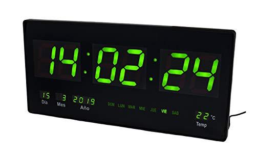 JEVX Reloj Digital de Pared - Grande para Colgar Alarma Luz Color...