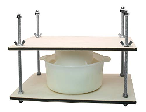 Сheese Making Kit 12 in (Metal Guides Cheese Press + 1 Cheese Making mold 1.2 L) pressure up to 50 pounds