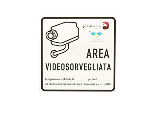 CARTELLO AREA VIDEO SORVEGLIANZA 160 x 160mm IN ALLUMINIO