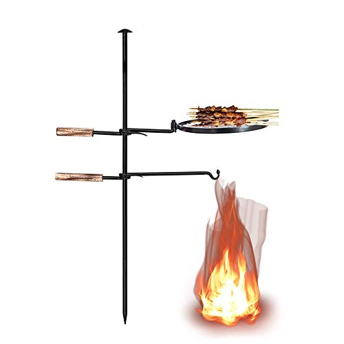 AOPARTS 360 degreeOutdoor Campfire Grill, Swing Cooking Stand BBQ Grill, Portable Adjustable Barbecue Tool,Outdoor Open Flame Cooking, Disassembled Without Any Tools, for Outdoor