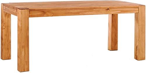 Brasilmöbel Esstisch Rio Kanto 200x100 cm Honig Pinie Massivholz Größe und Farbe wählbar Holztisch Küchentisch Echtholz Tisch ausziehbar vorgerichtet für Ansteckplatten