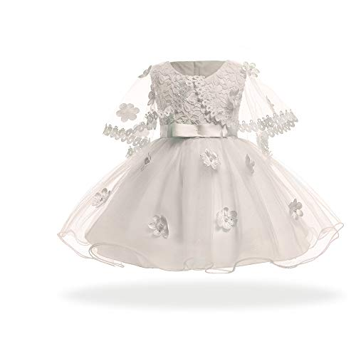 (リトルシング) Little Thing ベビードレス 結婚式 祝い お姫様 肩掛け 60 70 80 90 4ヶ月-2歳 3色 (70cm、ホワイト)