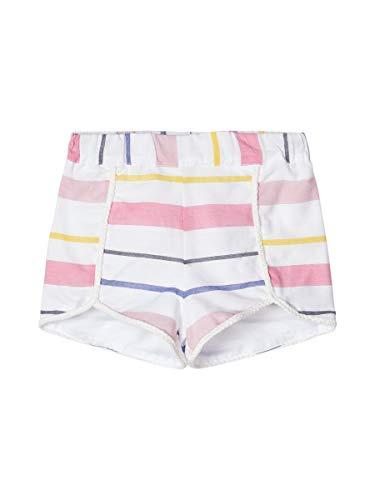 NAME IT Girl Shorts Gestreifte Baumwoll 104Snow White