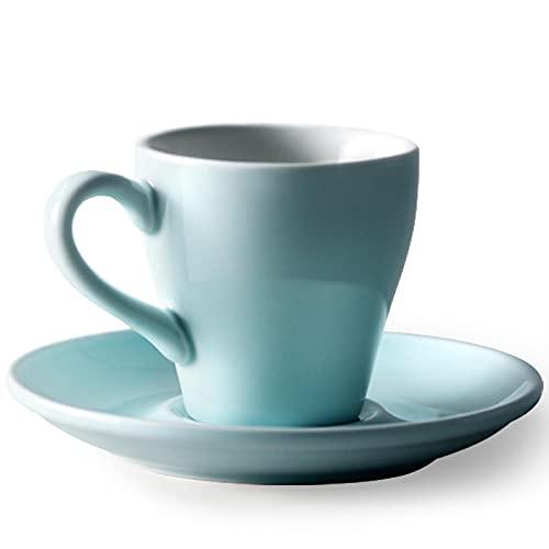 Taza De Cerámica De 75 Ml Concentrada Mini Desayuno Leche Taza De Café Y Platillo Conjunto Simple Cocina Casera Azul Tazas Personalizadas Originales Graciosa Tazas Desayumo Papá Tazas Dia Del Padre