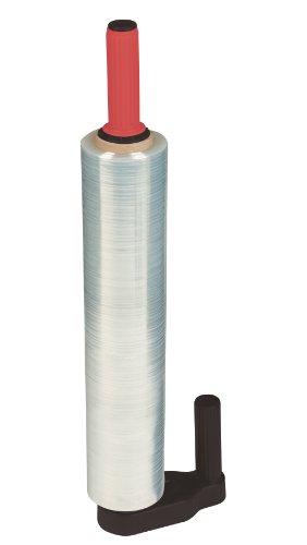 NIPS 140774103 HANDABROLLER für Stretchfolie, geeignet für Rollen-Kerndurchmesser von 50 mm, schwarz/rot