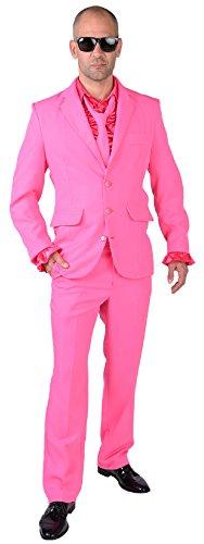 M218287-4-XXL pink Herren Anzug Smoking Sakko Hose und Krawatte Gr.XXL