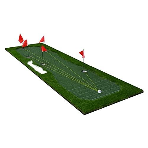 WBJLG Golf Putting Green Mat Golf Training Equipment Indoor Putter Trainer Office Golf Putting Green Bedroom Tick Putter Practice Blanket Ball Mat Advanced Gift
