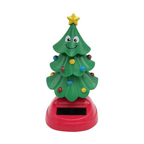 Heylas Weihnachtsbaum Figur Spielzeug Sammelfigur Solar Wackelfigur Klein Autodekoration Solarfigur Deko Weihnachten Dekoration