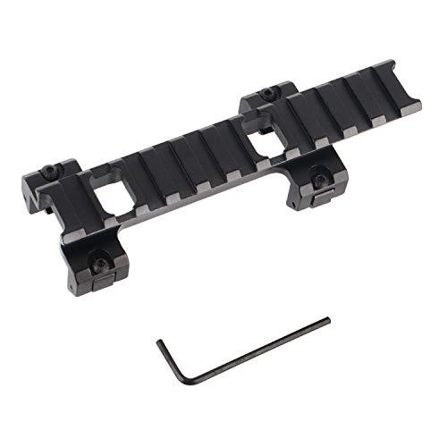 FOCUHUNTER Aluminium Taktisch 20mm Weaver/Picatinny Leuchtpunktvisier Schienen Zielfernrohrmontagen Schienen für MP5 G3 Erweiterung (12)