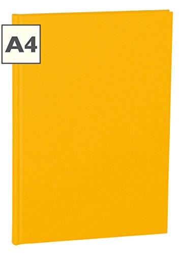 Semikolon (351231) Notizbuch Classic A4 blanko sun (gelb) - Buchleinenbezug - 160 Seiten mit cremeweißem 100g/m²- Papier - Lesezeichen