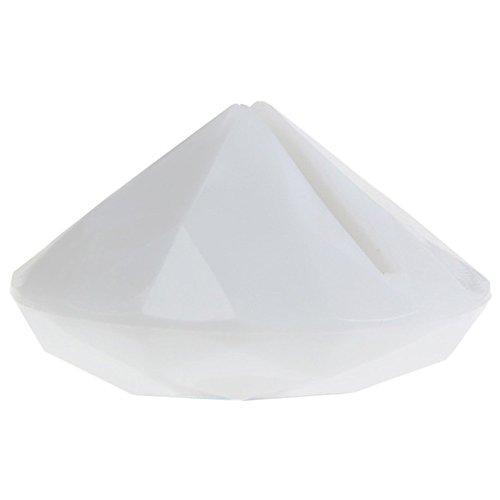 SANTEX 4127-1, Sachet de 4 marque-places Diamant, blanc