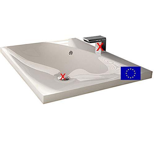 Einbau-Waschbecken 60x50x11,3cm eckig   60cm Einbau-Waschtisch zum einlassen in eine Platte   Material: hochwertiges Mineralguss   Qualität MADE IN EU