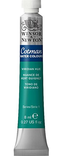 Winsor & Newton Cotman Water Colour Paint, 8ml tube, Viridian Hue
