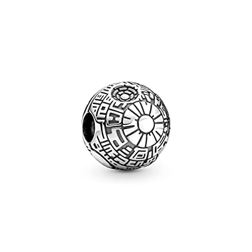 Pandora Star Wars Death Star Clip-Charm in Sterling-Silber aus der Star Wars x Pandora Collection