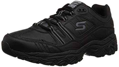 Skechers Sport Men's Afterburn Memory Foam Strike On Training Shoes,Black,12 M US