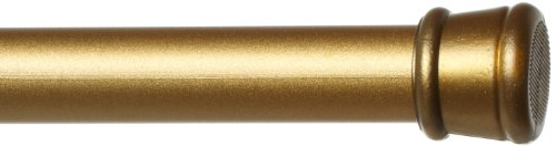 Achim Home Furnishings 569-0-PK12 Shower Curtain Rod, Gold