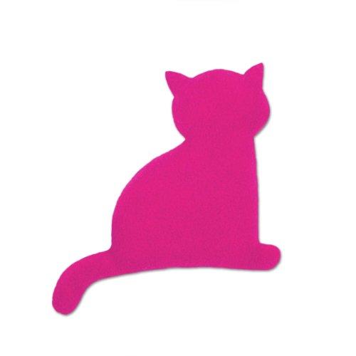Leschi Wärmekissen   36491   Die Katze Minina   sitzend   klein (Wärmekissen für Babys und Kleinkinder) Farbe: Flamingo/Mitternacht