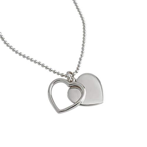 Empty 925 zilver mode hart hanger ketting vrouwen sieraden vrouwen accessoires sieraden sieraden sieraden sieraden sieraden sieraden geschenk