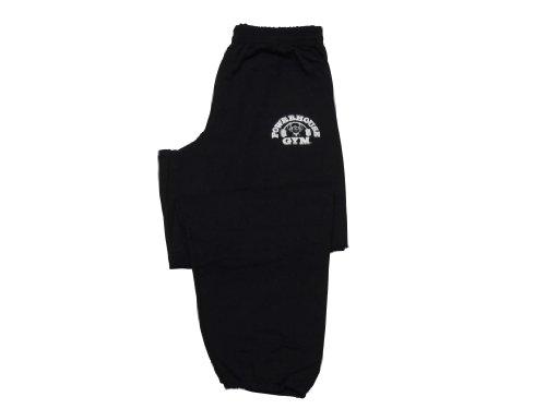 Powerhouse Gym Sweatpants-Black- L