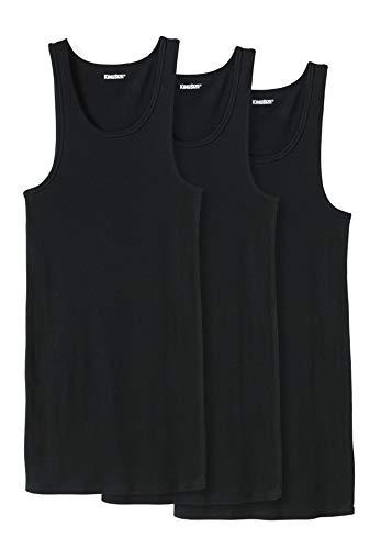 KingSize Men's Big & Tall Cotton Tank Undershirt 3-Pack - Tall - 2XL, Black