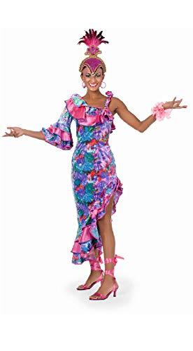 narrenkiste W4843-40 lila-pink Damen Samba Tänzerin Rio Kostüm Gr.40