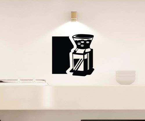 Wandtattoo Kaffeemaschine Kaffee Coffee Küche Spruch Wandbild Aufkleber 5Q004, Farbe:Dunkelgrün Matt;Hohe:25cm
