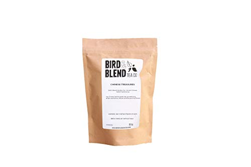 Bird & Blend Chinese Treasure Herbal Medicine Tea - Powerful Blend of Green Tea with Gingseng - Natural Ingredients (50g Loose Leave Pack)